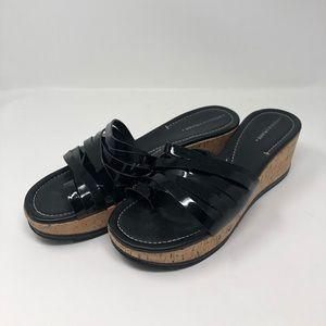 Donald J Pliner wedged sandals. (Women's 12)